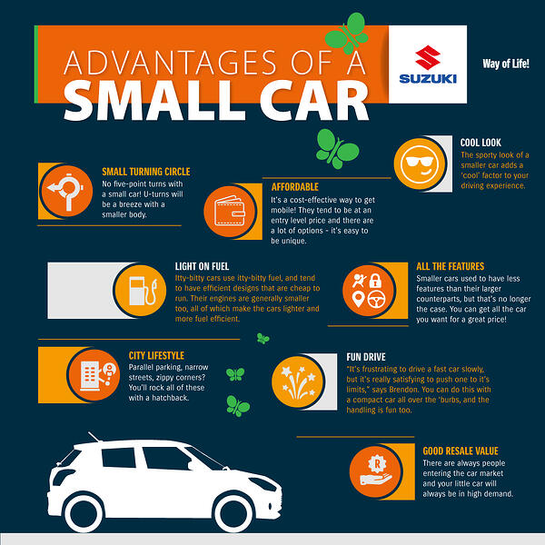 Advantages of driving a small car in South Africa | Infographic