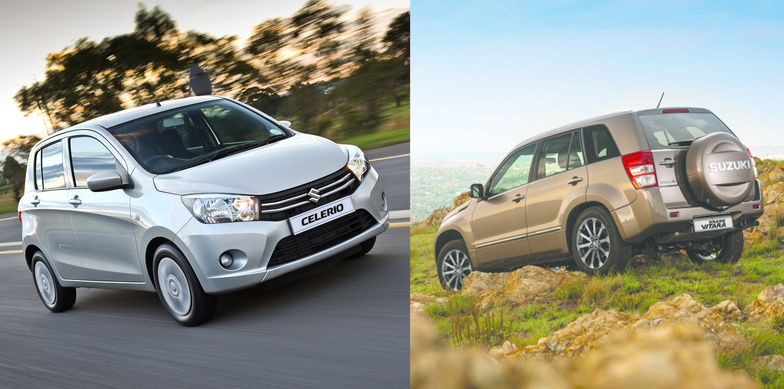 Suzuki Auto South Africa | Suzuki Celerio vs. Suzuki Grand Vitara