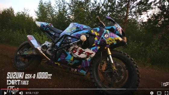 Suzuki Gsx-R converted for dirt! [video]