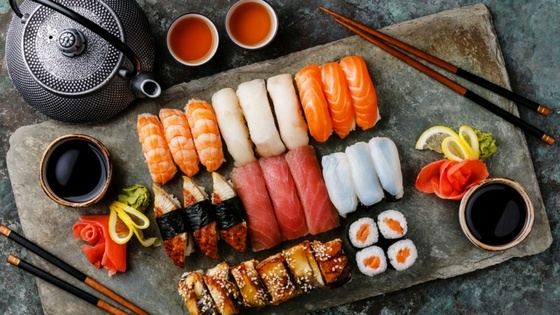 Suzuki_Kaizen the art of perfection - sushi platter and tea.jpg