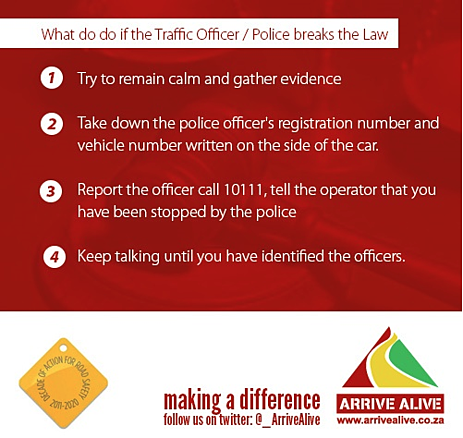 What to do if a traffic officer breaks the law
