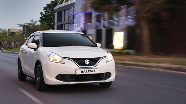 Suzuki Baleno on the road