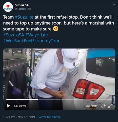 Suzuki fuel economy tour