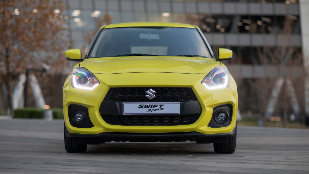 Swift Sport parked on the road