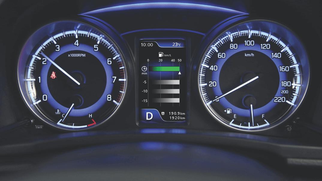 Understanding how your car processes petrol and diesel _ Suzuki Baleno dashboard
